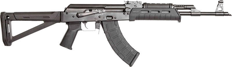 CAI RAS47 AK STYLE SEMI AUTO RIFLE, 7.62X39, MAGPUL MOE STOCK, NEW SCOPE RAIL, 30RD MAG, BLACK