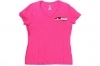 J&G Sales T-Shirt 34,  Women's Pink Short Sleeve with Logo & the 2A, Size Medium.