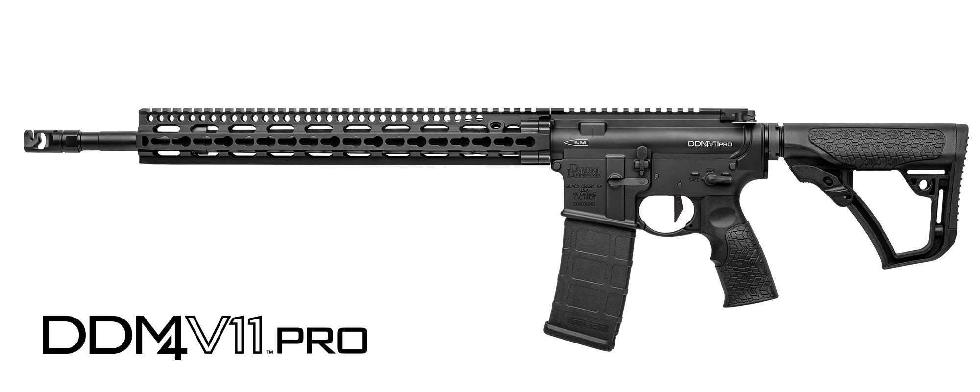 "DANIEL DEFENSE M4 V11-PRO SEMI-AUTO CARBINE, 223 (5.56MM NATO), 18"" BBL, BLACK, NEW"