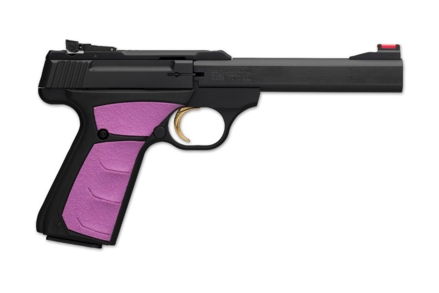 "BROWNING BUCK MARK PLUS SEMI-AUTO PISTOL, .22LR, 5.5"" BBL, BLACK/FUCHSIA, NEW"