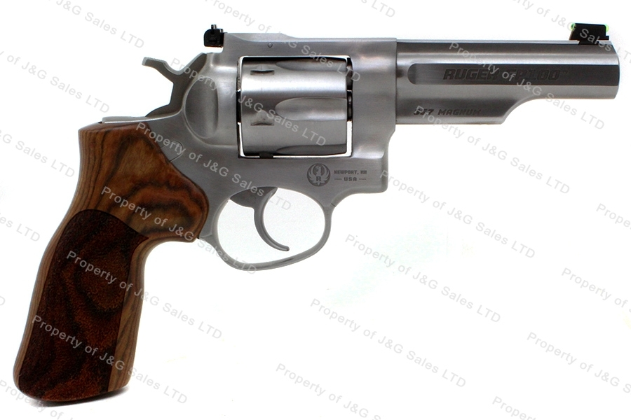 "Ruger® GP100® Match Champion® Revolver, 357 Magnum, 4.2"" Barrel, Stainless, Wood Grips, New."