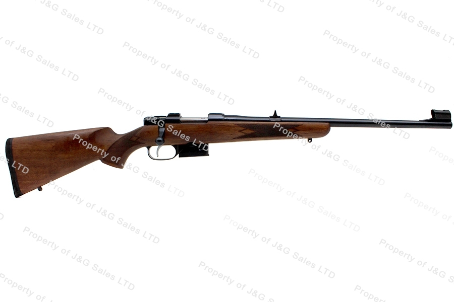 CZ 527 Compact Bolt Action Carbine, 556/223, Walnut Stock, Set Trigger, New.