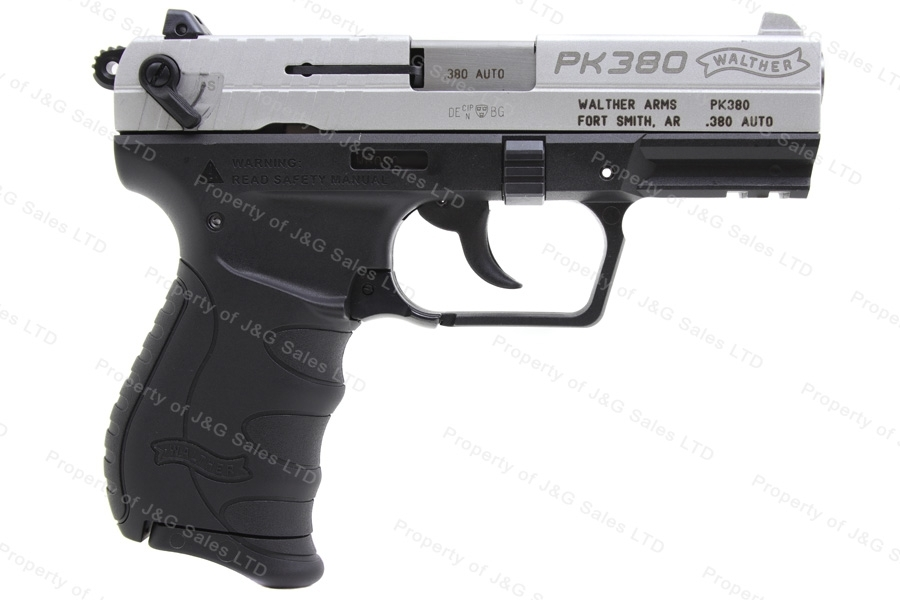 Walther PK380 Semi Auto Pistol, 380ACP, 3.6'' Barrel, Nickel-Black 2-Tone, New.