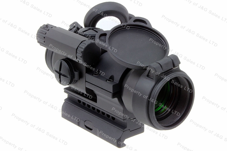 Aimpoint PRO Red Dot Sight, Rail Mount with Riser, 2 MOA, 1x, Matte Black.