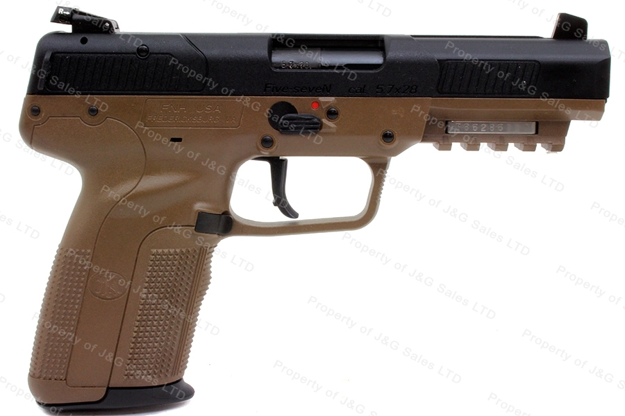 "FNH Five Seven MKII Semi Auto Pistol, 5.7x28mm, 4.75"" Barrel, FDE, 3 Mags, New."