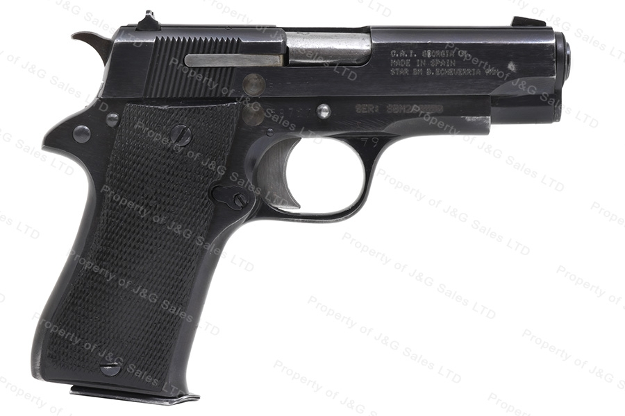Star BM, 9mm Luger, Compact Semi Auto Pistol, Blued, G-VG, Used. Pre-Order Now.