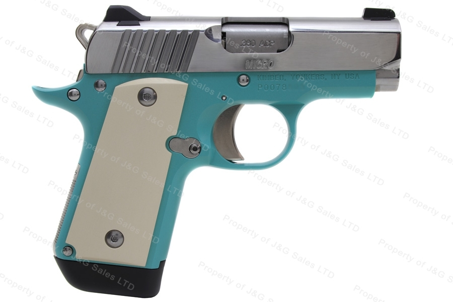 Kimber Micro Bel Air Semi Auto Pistol, 380ACP, Bel Air Blue Alloy Frame, Special Edition, New.