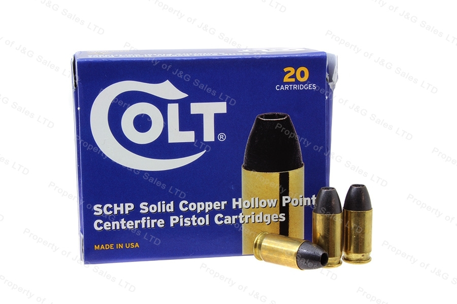 380ACP Colt 80gr Solid Copper HP Ammo, 200rd Case.