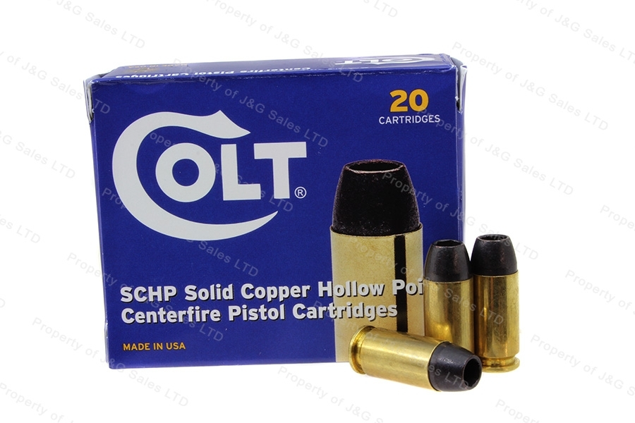 40 S&W Colt 155gr Solid Copper HP Ammo, 200rd Case.