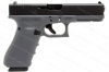 Glock 17 9mm Gen 4 Semi Auto Pistol, Grey Frame, Black Slide, New.