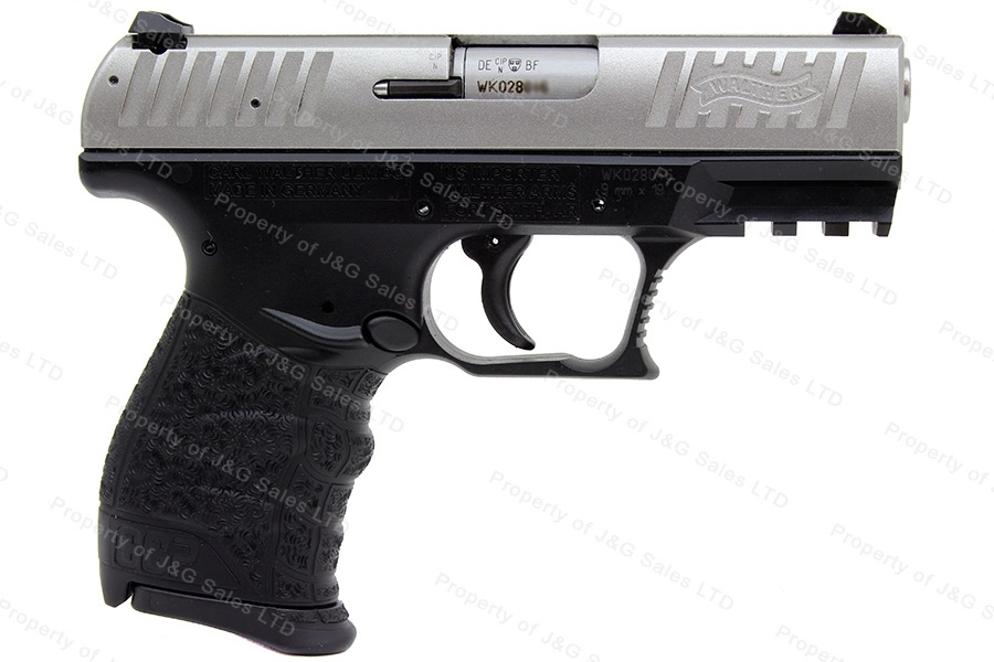 Walther CCP Semi Auto Pistol, 9mm, SoftCoil Gas-Delayed Blowback System, 2-Tone, New.
