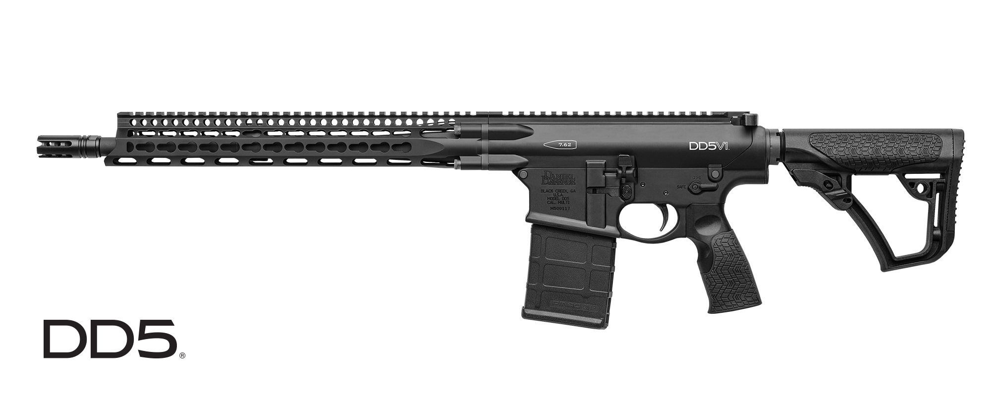 "DANIEL DEFENSE DD5 V1 SEMI-AUTO CARBINE, .308 WIN (7.62MM NATO), 16"" BBL, BLACK, NEW"
