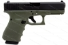 Glock 23 40S&W Gen 4 Semi Auto Pistol, Green Frame, Black Slide, New.