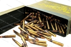 30-06 Korean M2 Ball, 250rds Loose in Steel Ammo Can, 150gr FMJ Military Surplus.