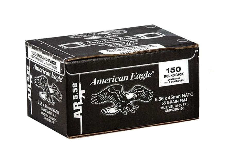 5.56mm Federal American Eagle, 55gr FMJ Ammo, 600rd case, XM193 (223).