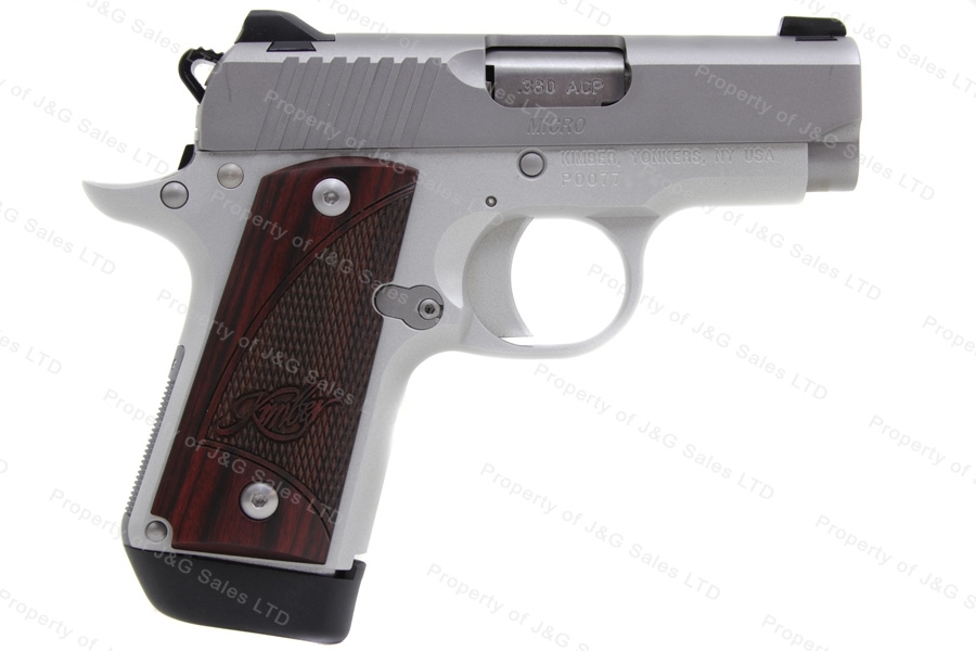"Kimber Micro Carry Semi Auto Pistol, 380ACP, Alloy Frame, 2.75"" Barrel, Rosewood Grips, New."