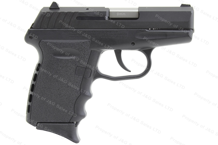 SCCY CPX-2 CB Semi Auto Pistol, 9mm, Black, 3 Dot Sights, New.