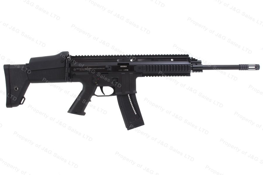ISSC Legacy Sports MK22 Scar Pattern Semi Auto Rifle, 22LR, Collapsible Side Folding Stock, New.