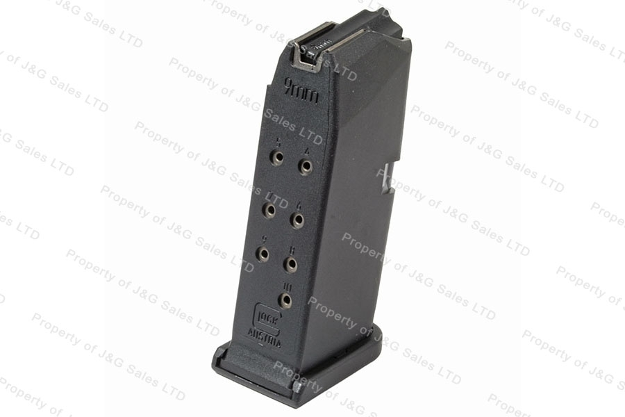 Glock 26 9mm 10rd Gen 4 Factory Magazine, Black, New.
