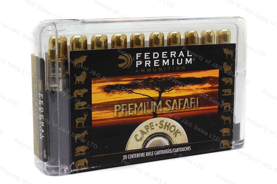 416 Rem Mag Federal Premium, 400gr Trophy Bonded Sledgehammer Ammo, 20rd Box, New.