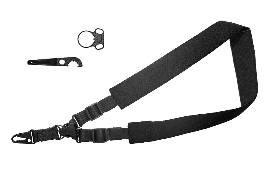 Max Ops Single Point Tactical Sling with Adapter Kit, Black Nylon, 28408, New.
