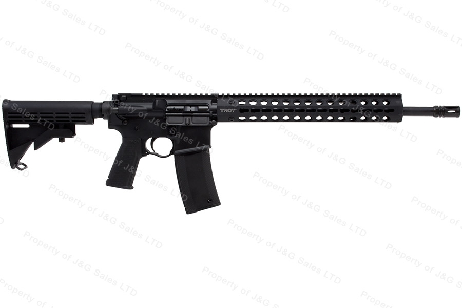 "Troy Defense CQB SPC Carbine AR Type Rifle, 223/5.56, 16"" Barrel, Keymod Handguard, New."