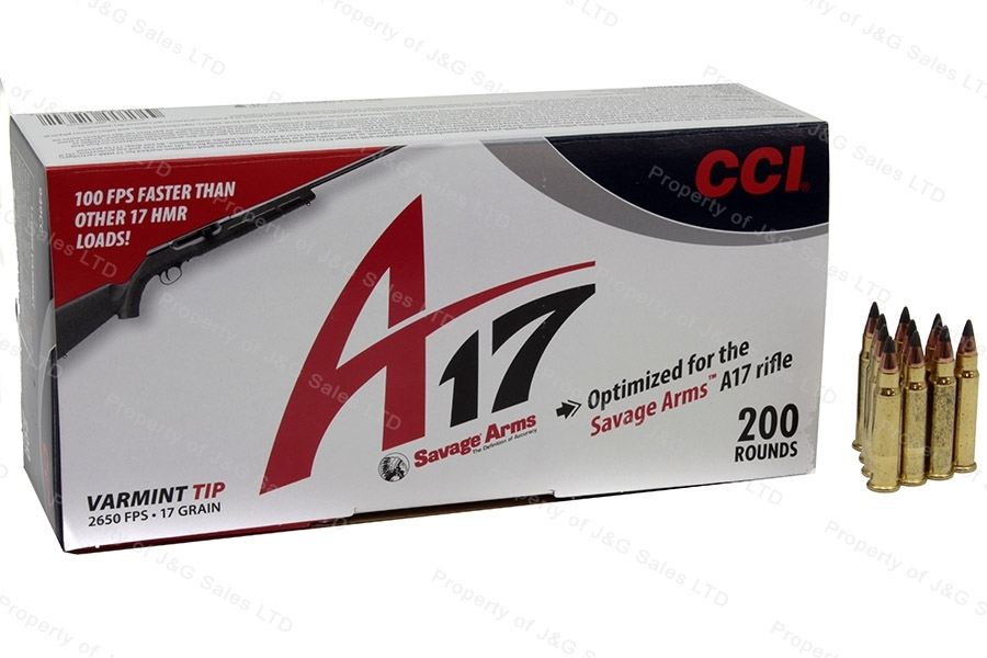 17 HMR CCI 17gr Poly Tip Ammo, 2650FPS, 200rd Box, New