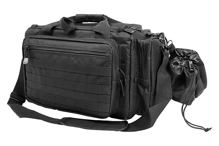 VISM Competition Rangebag, Black Padded, Multiple Pockets, Large.