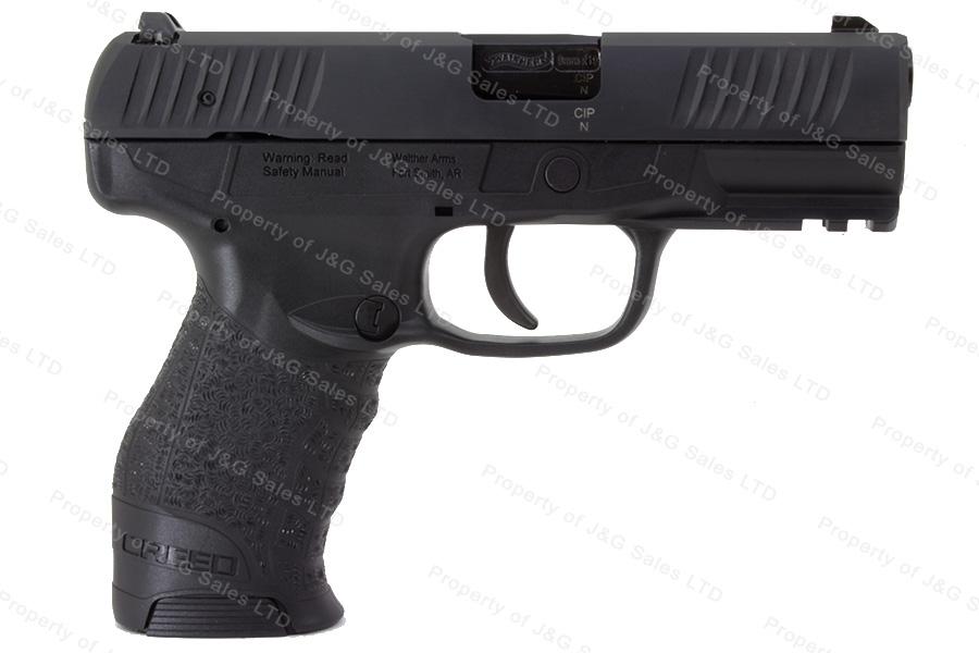 "Walther Creed Semi Auto Pistol, 9mm, 4"" Barrel, Black Tenifer Finish, New."