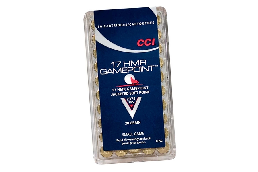 17 HMR CCI 20gr SP Ammo, 50rd Box. 0052