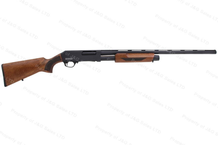 "Dickinson Arms XX3BW-Combo Pump Shotgun, 12ga, 18.5"" and 28"" VR Barrels, Wood Stock, New."
