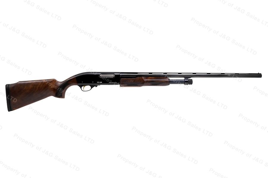 "CZ 620 Pump Action Shotgun, 20ga, 28"" Barrel, Field Select Walnut Stock, New."