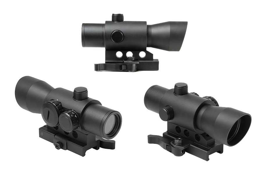 NcStar Tactical Dot Optic Sight, 32mm MKIII Tube, Integral Mount for Picatinny Rail. New.