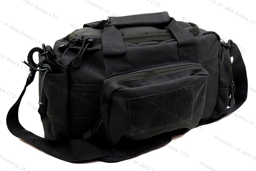 VISM Rangebag, Black Padded, Multiple Pockets, Medium.