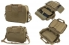 VISM Double Pistol Case Rangebag, Tan Nylon, Padded With Mag Pouches.