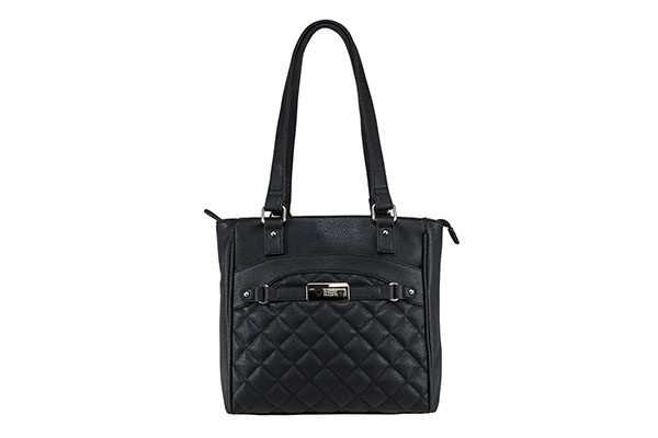 VISM Concealed Carry Purse BWH001, Quilted Tote Bag, Black.