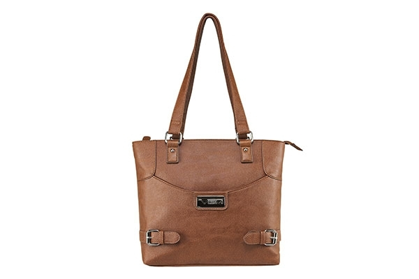 VISM Concealed Carry Purse BWI003, Small Satchel Bag, Brown.