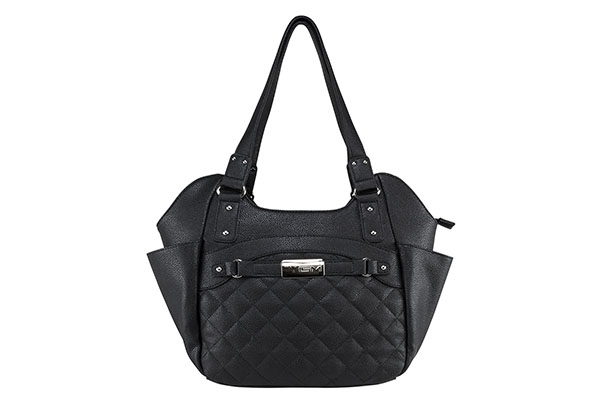 VISM Concealed Carry Purse BWL001, Large Quilted Hobo Bag, Black.