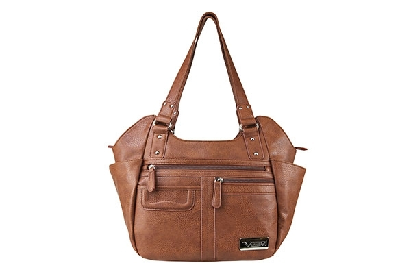 VISM Concealed Carry Purse BWM002, Large Hobo Bag, Brown.