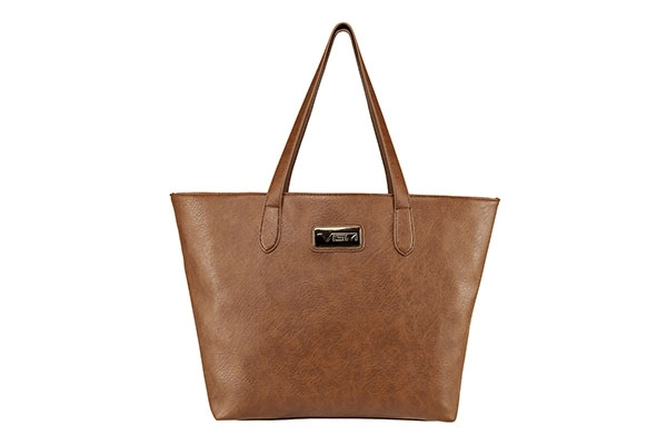 VISM Concealed Carry Purse BWN002, Large Tote Bag, Brown.