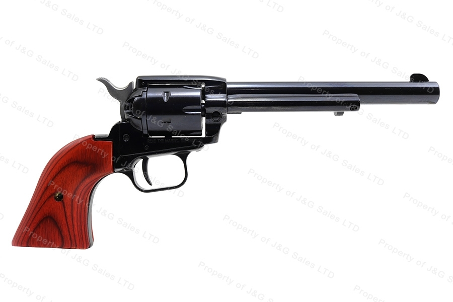 "Heritage Arms Rough Rider Single Action Revolver, 22LR, 6.5"" Barrel, Cocobolo Wood Grips, New."