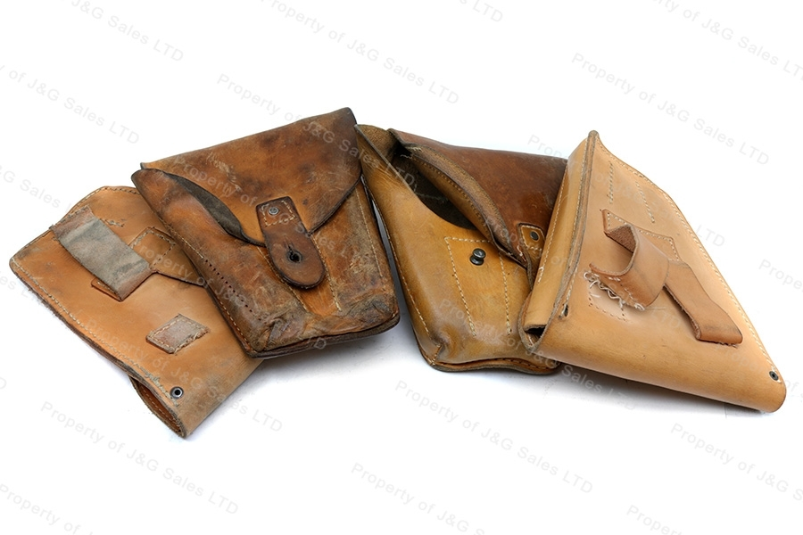 Military Surplus CZ-82 or CZ-83 Tan Leather CZ82 Holsters, Lot of 70, Used, Need Repair.