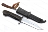 AKM-47 Polish Type 1 Bayonet with Scabbard, VG, Used.
