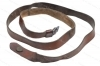 Military Leather SKS Sling, Yugo Mfg, Brown Leather, Used