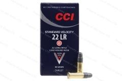 22lr cci lead round nose 40gr target ammo 50rd box 0035