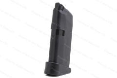 Glock 43 9mm 6rd Factory Magazine, Finger Extension, Black, New.