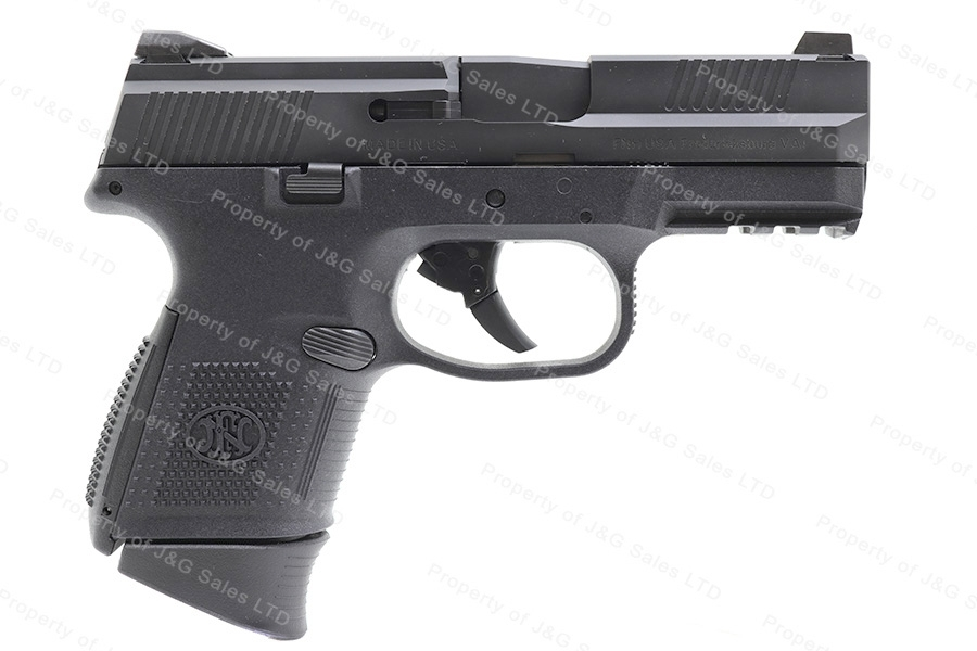 "FNH FNS-9C Semi Auto Pistol, 9mm, 3.6"" Barrel, Interchangeable Back straps, Black, New."