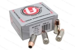 45ACP +P Underwood Ammo 185gr XTP JHP Ammo, 20rd Box