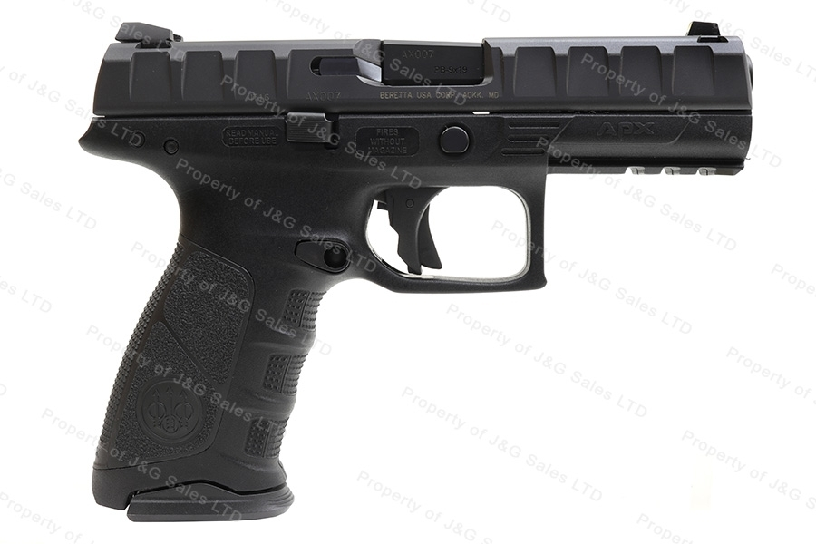 "Beretta APX Semi Auto Pistol, 9mm, 4.3"" Barrel, Striker Fired, Black, New."