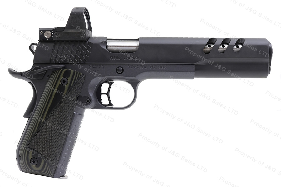 Kimber Super Jagare Semi Auto Pistol, 10mm, Vented Super Carry Pattern Flat Top Slide, New.